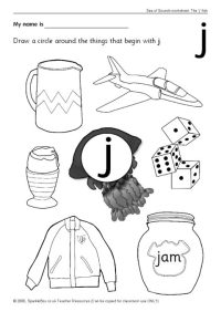 Letter j Worksheets (SB440) - SparkleBox