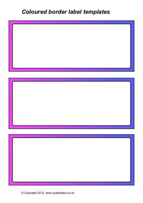 label templates free download