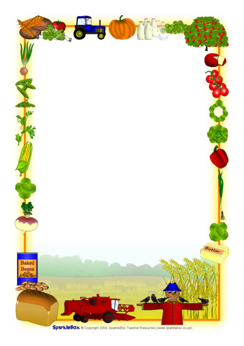 Harvest-Themed A4 Page Borders (SB2855) - SparkleBox