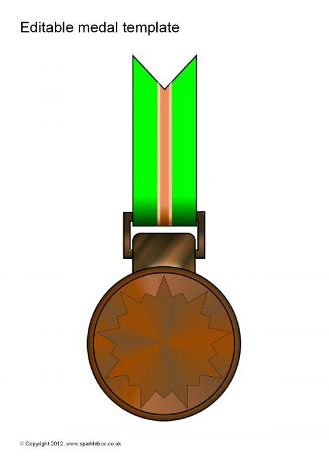 Editable Medal Templates (SB7702) - SparkleBox - gold medal templates