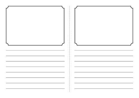 Foldable Story Book Writing Frame Template (SB3831) - SparkleBox