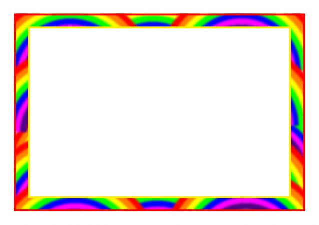 Rainbow-Themed A4 Page Borders (SB7475) - SparkleBox - rainbow page border