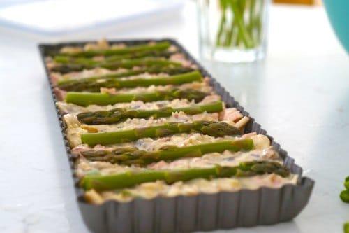 ready to bake- Gluten Free Asapargus, Mushroom and Bacon Slice