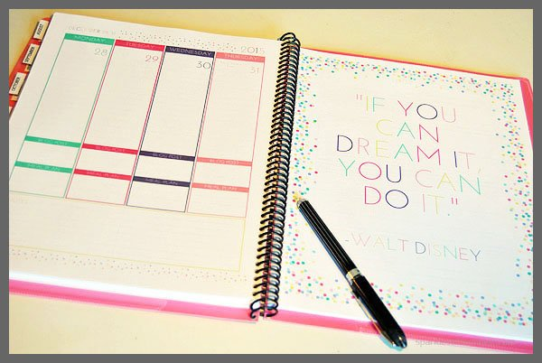 Make Your Own Daily Planner - Sparkles of Sunshine