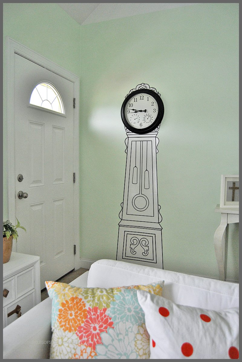 Majestic A Far Check Out This Ikea Painted Clock Sparkles Sunshine Far Clock Wall Sticker Ikea Far Clock Wall Decal Ikea No Money furniture Grandfather Clock Wall Stickers