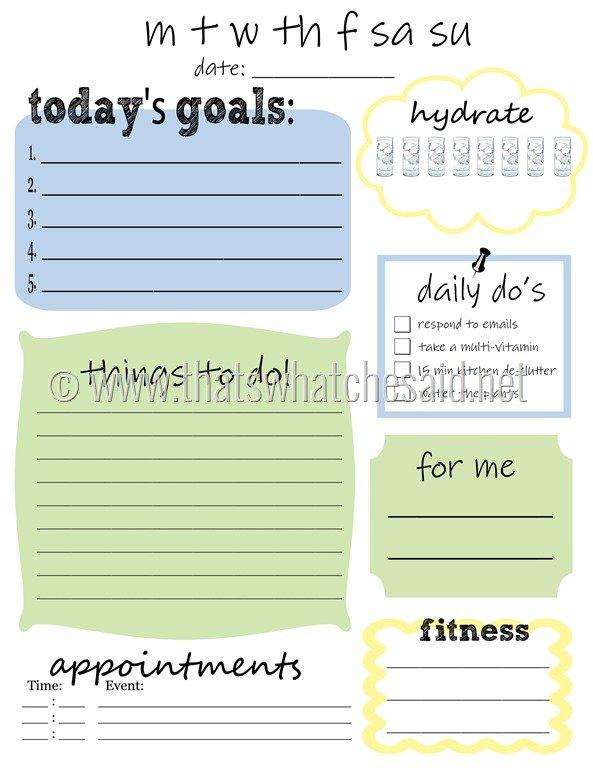FREE Printable 2016 Planners  Calendars - Sparkles of Sunshine - cute weekly homework planner template