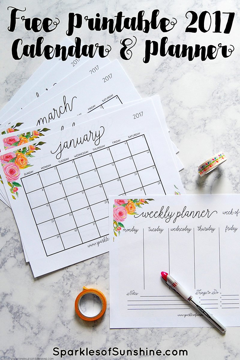 Free Printable Calendar Organized Home Printable Monthly Calendars Organized Home Free Printable 2017 Monthly Calendar And Weekly Planner