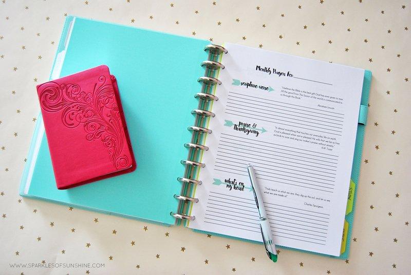 Prayer Journal Free Printables - Sparkles of Sunshine