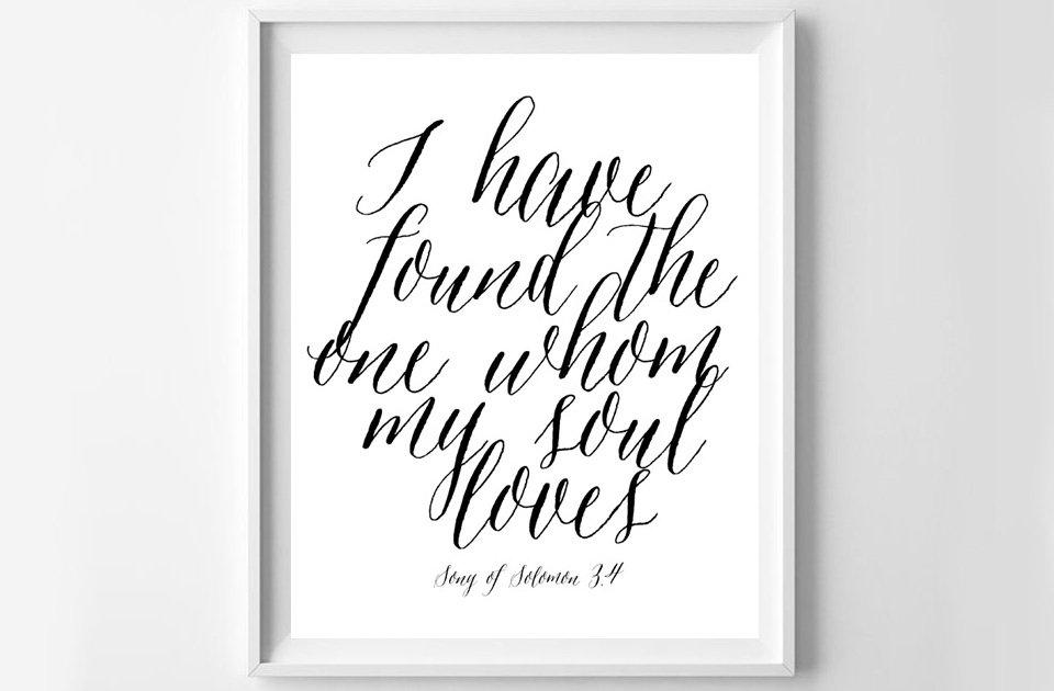 Song of Solomon Valentine\u0027s Day Free Printable - Sparkles of Sunshine
