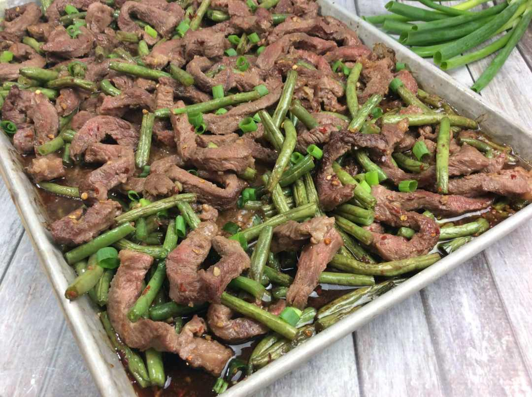 Mongolian beef sheet pan 4-6