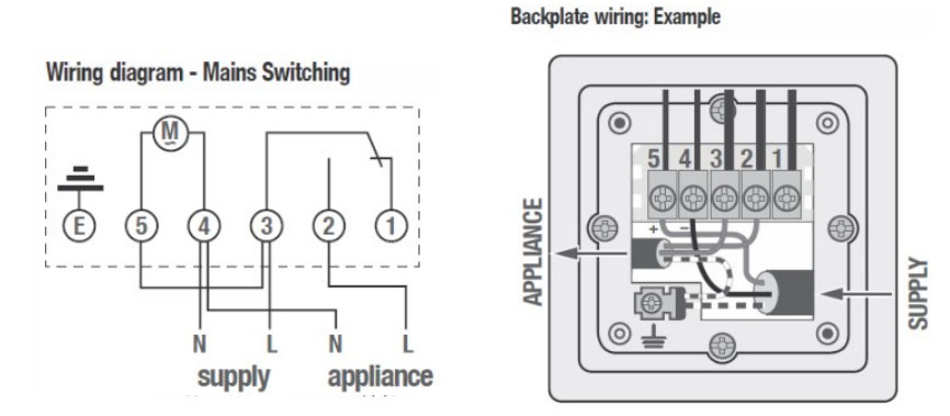 wiring diagram 6 downlights