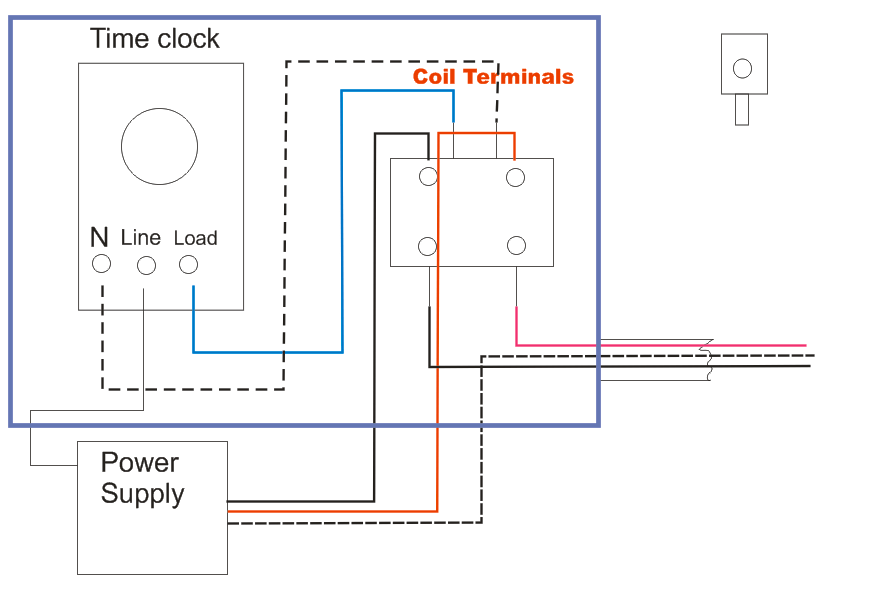 time clock and contactor wiring diagram