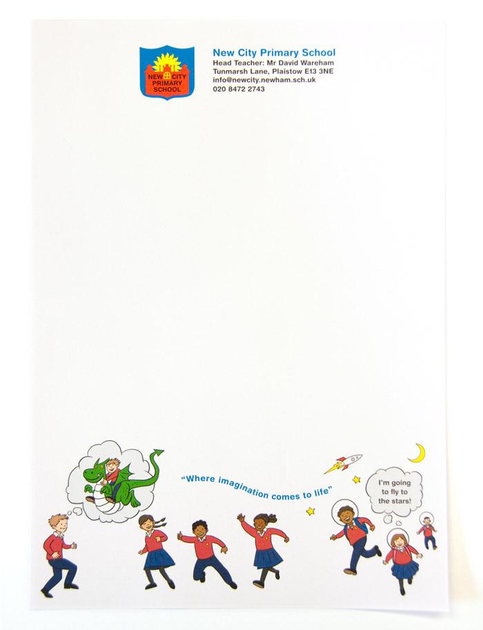 New City School \u2013 illustration  letterhead