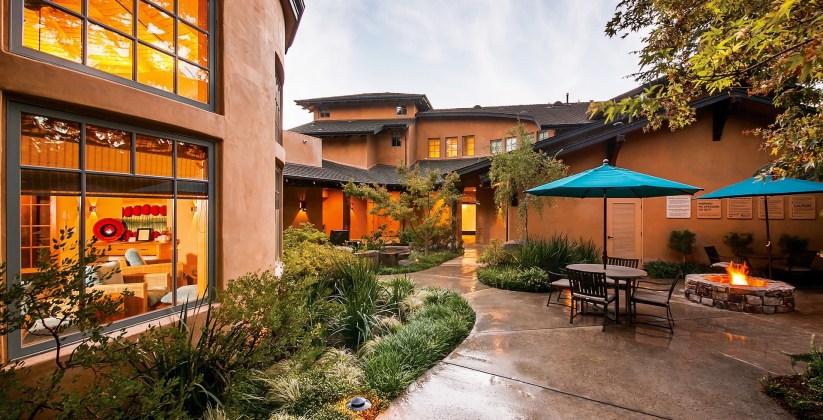 Spa Courtyard, Wine & Roses, Spas of America
