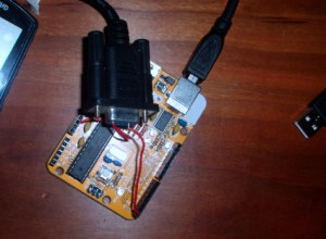 Two wires to hook an eTrex data cable up to the Arduino