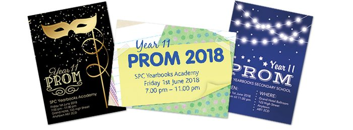 Other Leavers Products - Prom Tickets - SPC Yearbooks