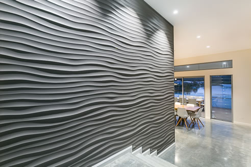 3d Wallpaper Or Wall Panel Or Wall Panels Stacked Stone 3d Wall Panels Make A Splash In This Waterfront Home