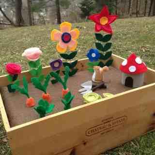 DIY plantable felt gardens