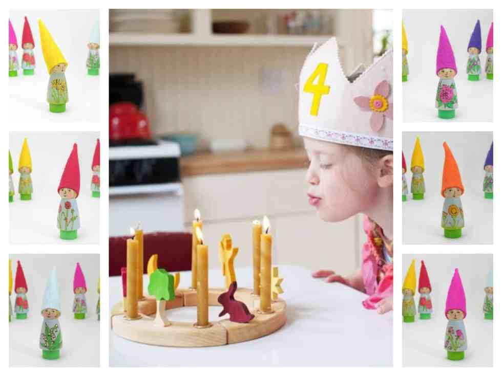 Birthday gnome montage