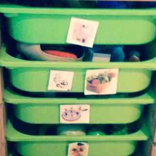 Organized bins 1