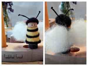 Waldorf bee ornament