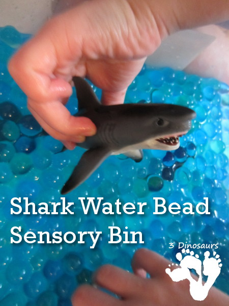 Sensory box ideas for kids with autism. Shark Water Sensory Bin. | speciallearninghouse.com