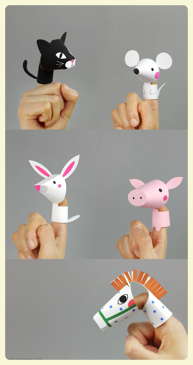Farm animals finger puppets printable for children with special needs at LE CHEMIN ABA.