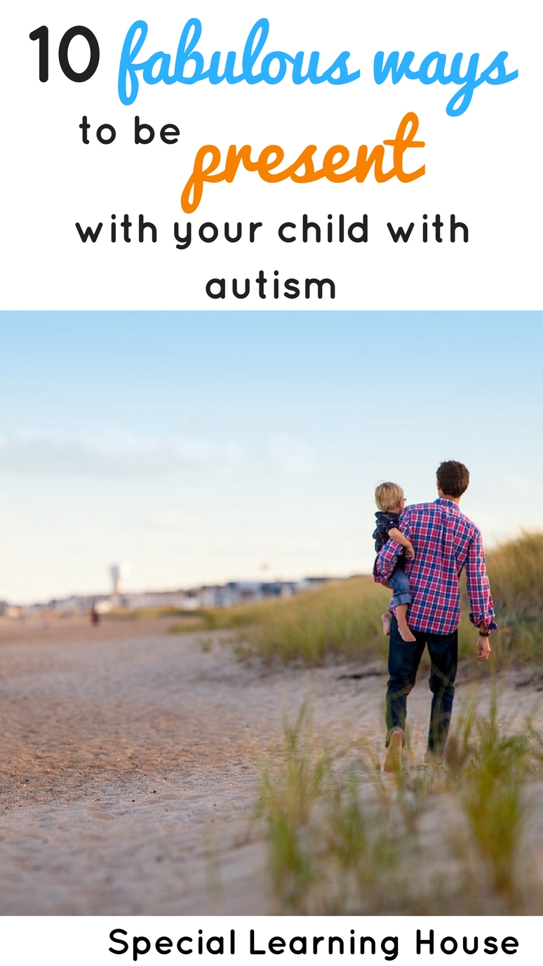 Ways to be present with your child with autism. Cooking is an educational activity to do together! | speciallearninghouse.com