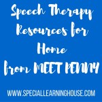 Speech therapy resources for home from Meet Penny
