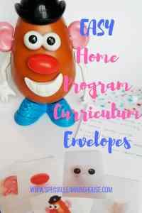Home program curriculum made easy with « program envelopes »