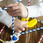 Build with playdough & straws & fine motor skills. Featured by Special Learning House. www.speciallearninghouse.com.
