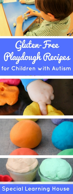 3 gluten-free playdough recipes for children with autism. | speciallearninghouse.com