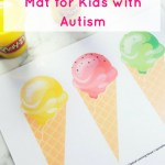 Ice cream playdough mat (free printable)