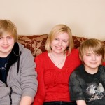 Me with Sons1 & 2. Image by Angela Melling