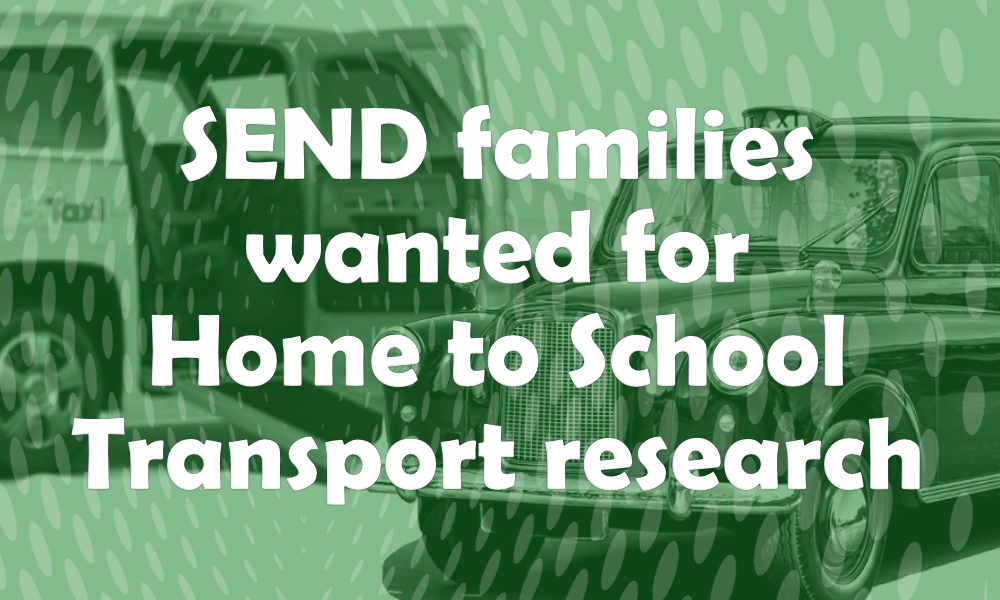 SEND families wanted for home to school Transport research