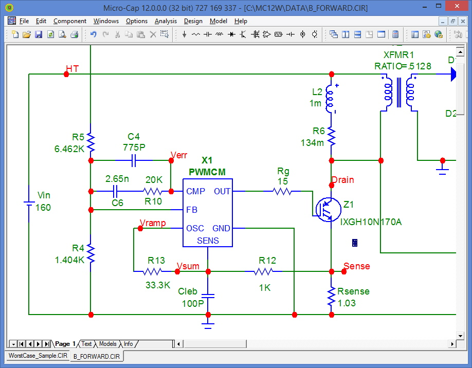 Integrated schematic editor and simulator