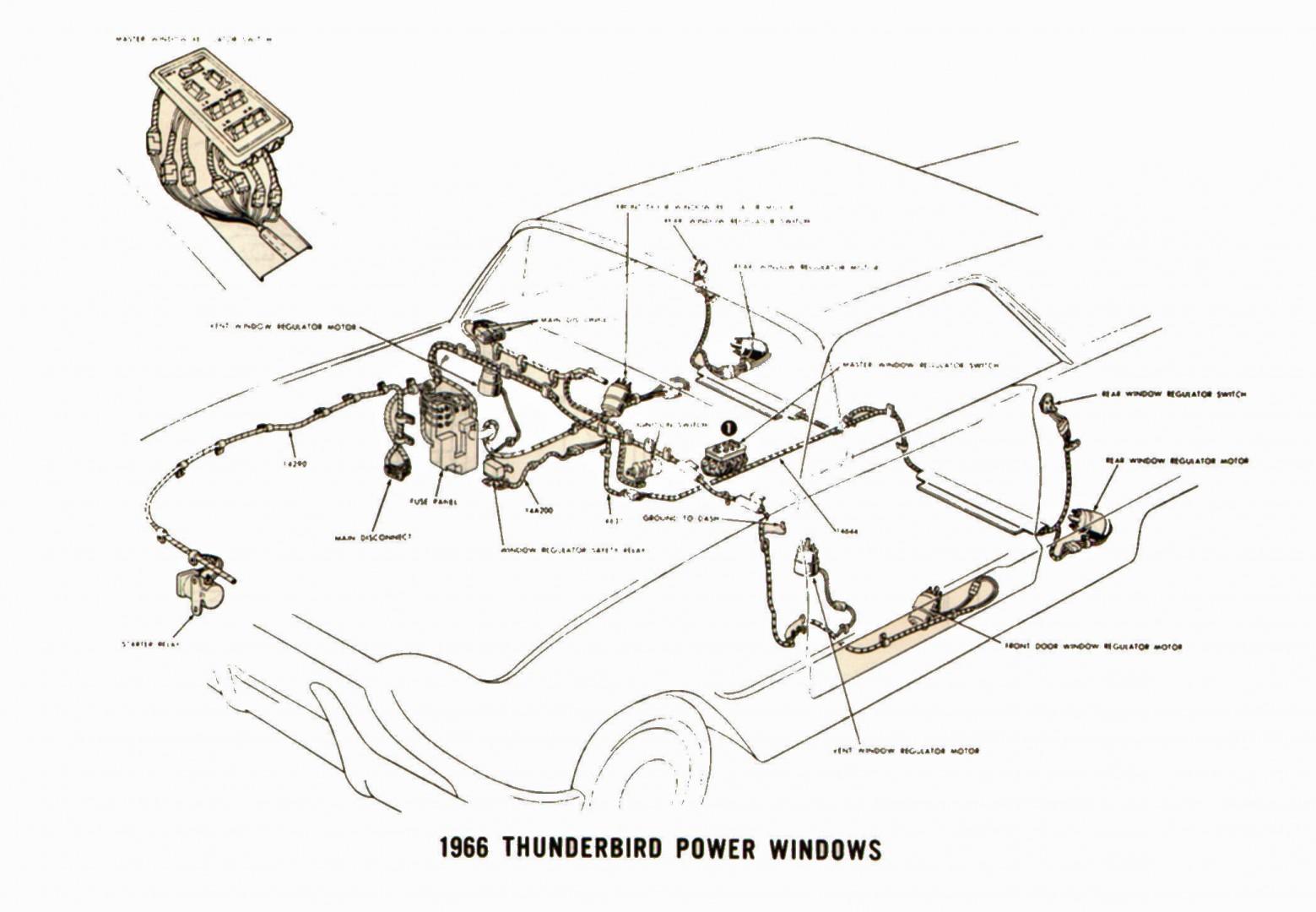 1966 thunderbird power window wiring diagram