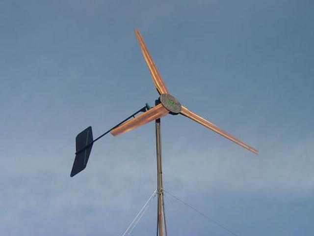 Homemade Wind Generator Made With A GM 1-Wire Alternator - Chevy