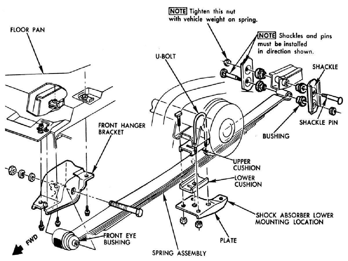 chevy blazer rear suspension diagram