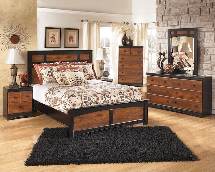 Aimwell Dark Brown Bedroom Set - SpeedyFurniture
