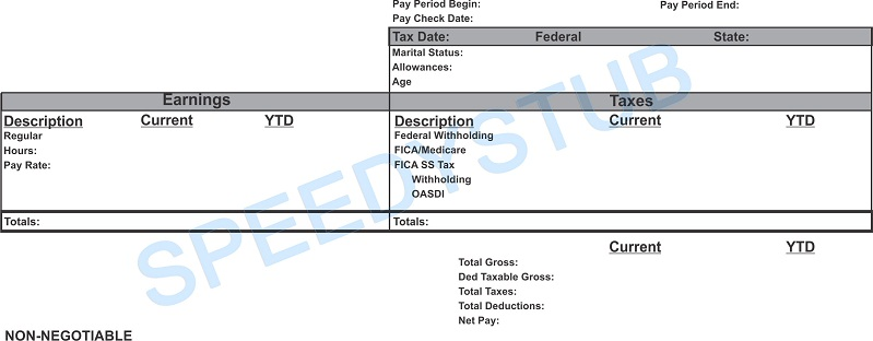 Paycheck Stubs, Employment Verification, Check Stubs  Proof of Income - check stub template