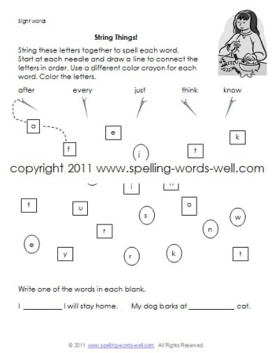 Sight Words Printables for Learning Fun!
