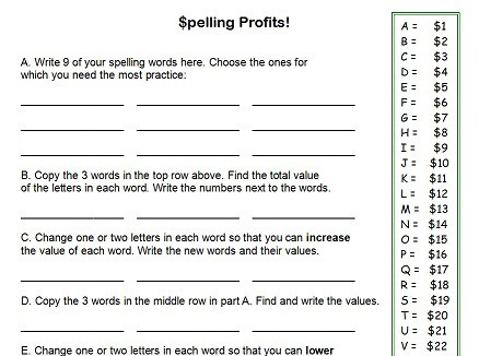 Fourth Grade Worksheets For Fun Spelling Practice