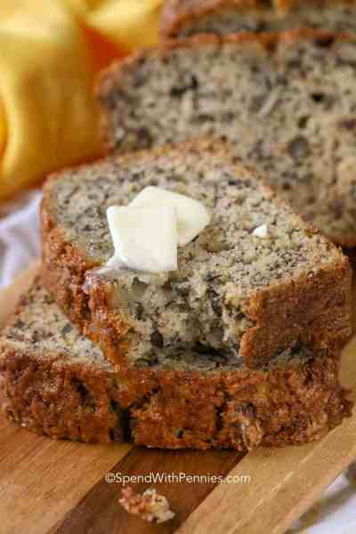 Easy Banana Bread Recipe {Deliciously Moist!} - Spend with Pennies