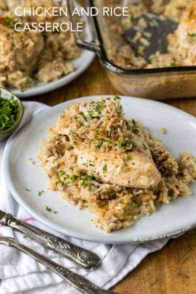 4 Ingredient Chicken Rice Casserole - Spend With Pennies