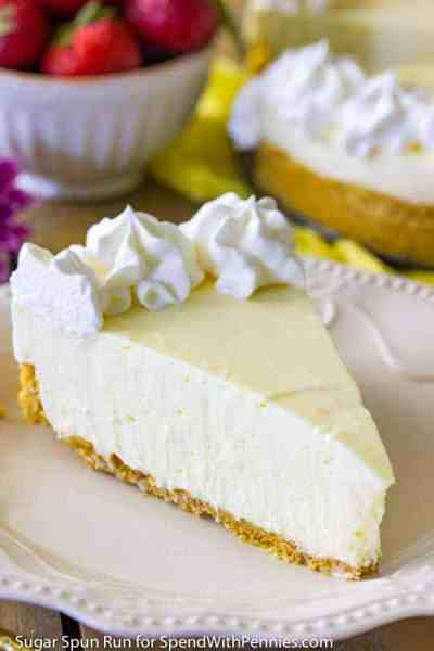 No-Bake Lemon Cheesecake - Spend With Pennies