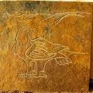 Golden Eagle on Braeriach carved slate panel
