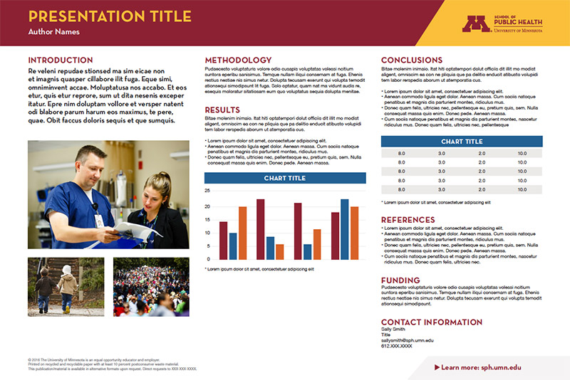 Downloads - School of Public Health - University of Minnesota - research poster template