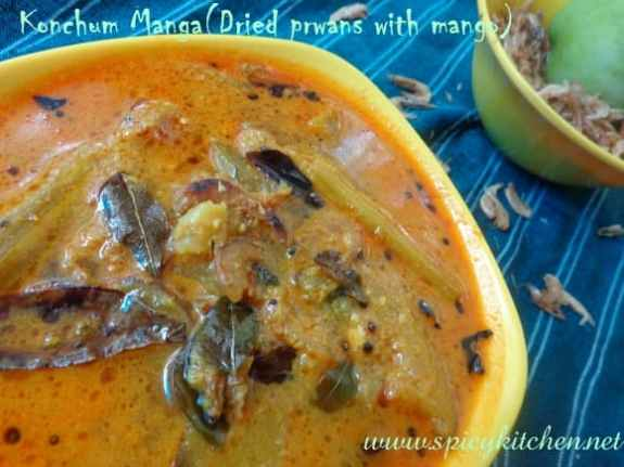 Dried prawns curry