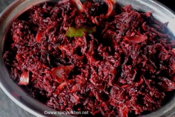 beetroot-thoran